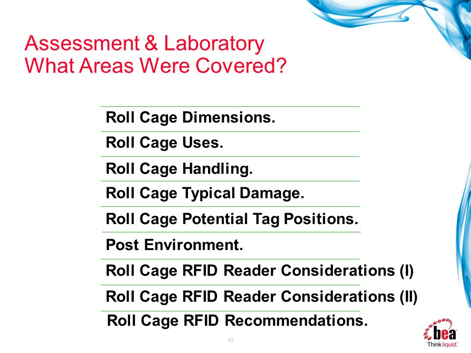 Assessment & Laboratory What Areas Were Covered