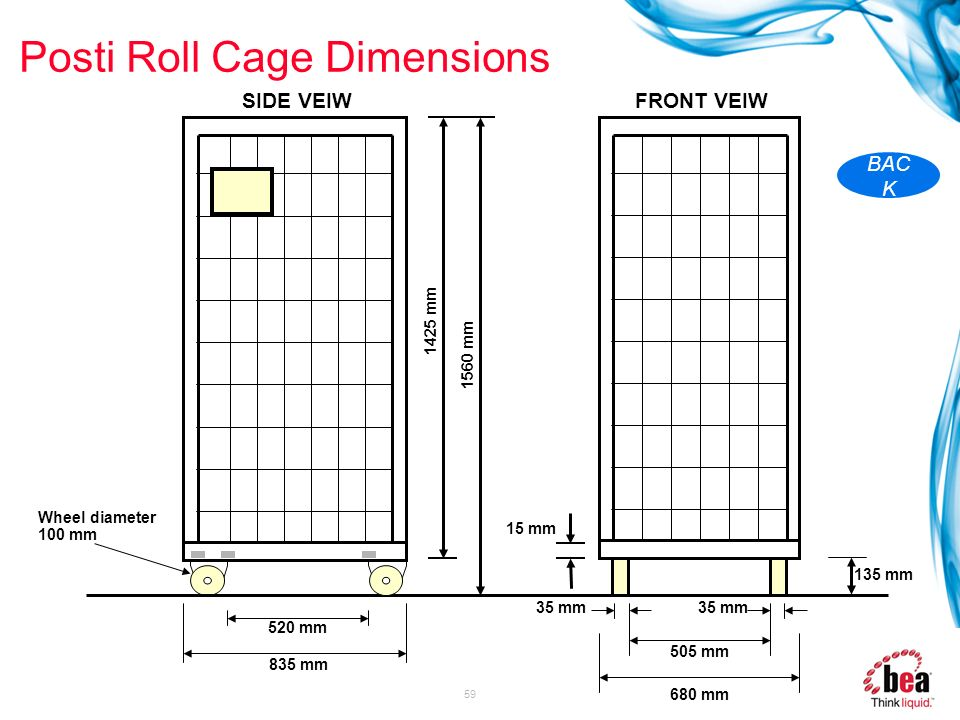 Posti Roll Cage Dimensions