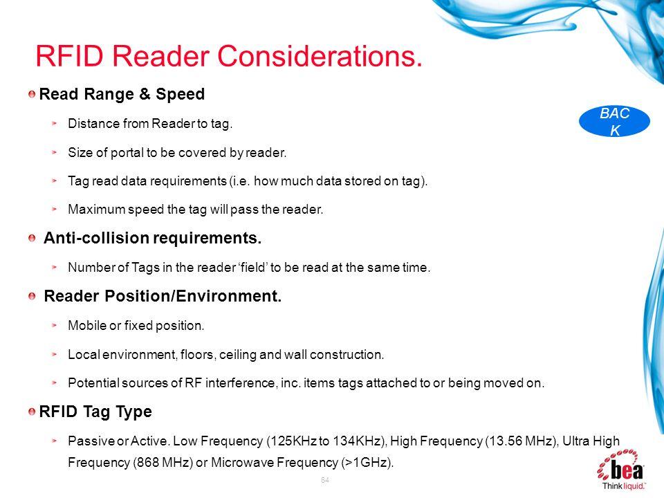 RFID Reader Considerations.