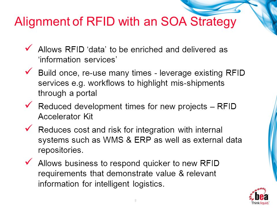 Alignment of RFID with an SOA Strategy