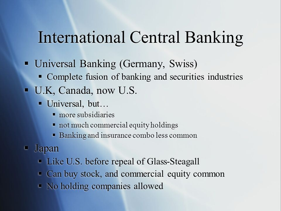 International Central Banking