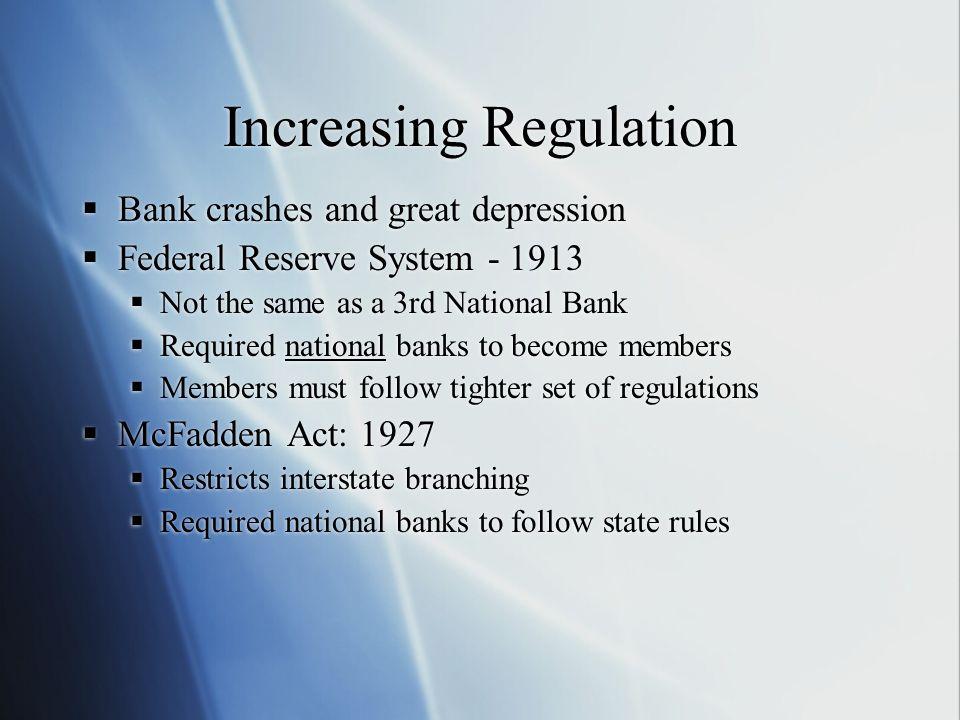 Increasing Regulation