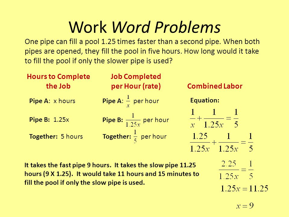 Work Word Problems