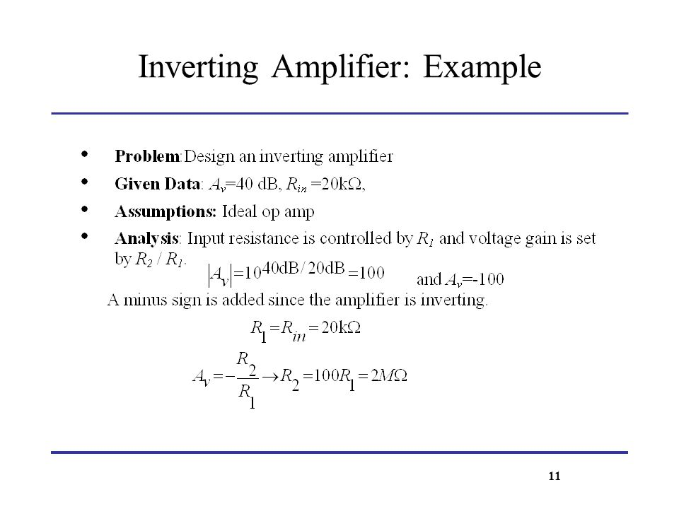 Inverting Amplifier: Example