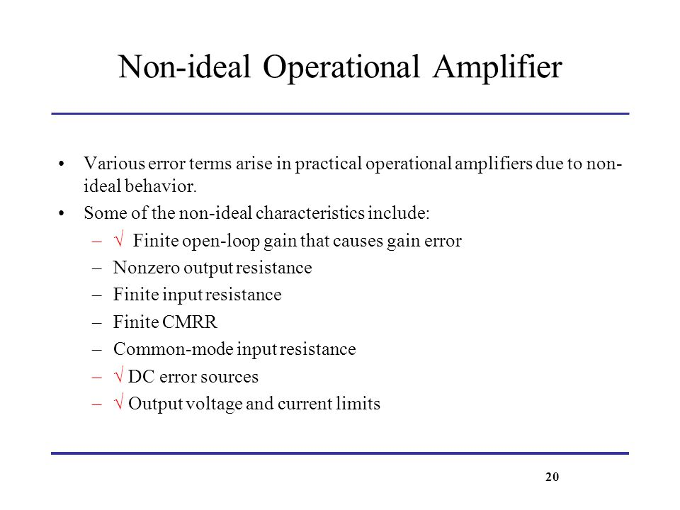 Non-ideal Operational Amplifier