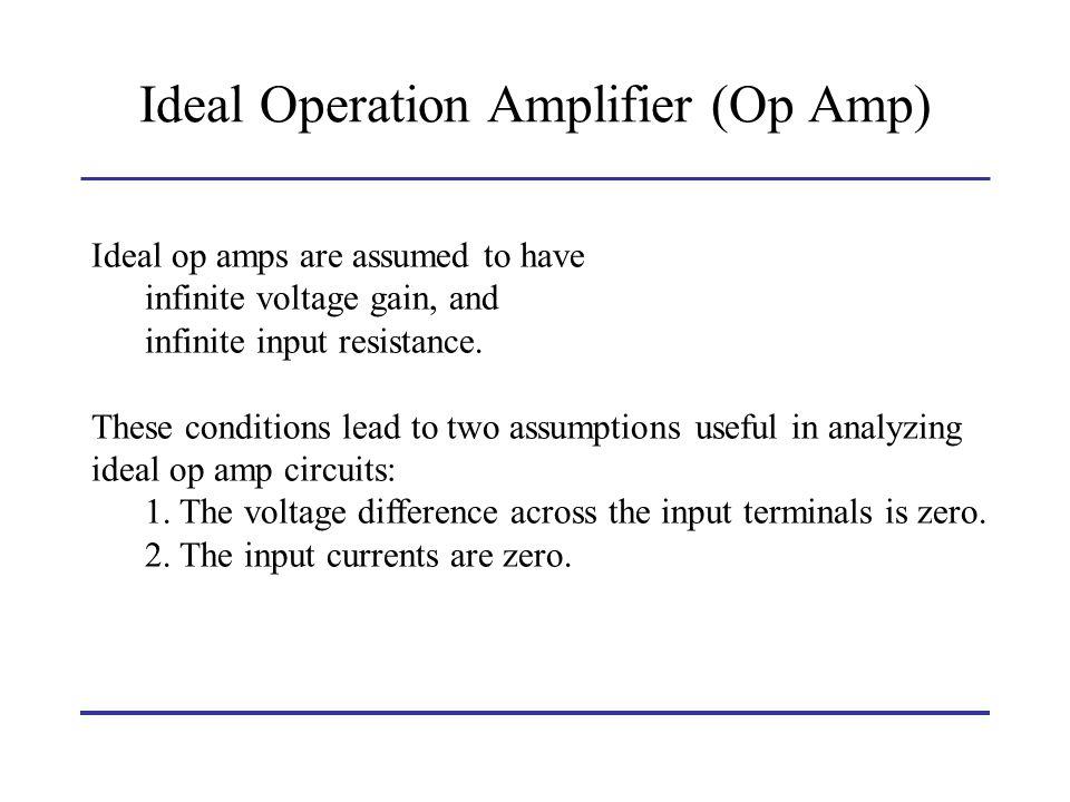 Ideal Operation Amplifier (Op Amp)