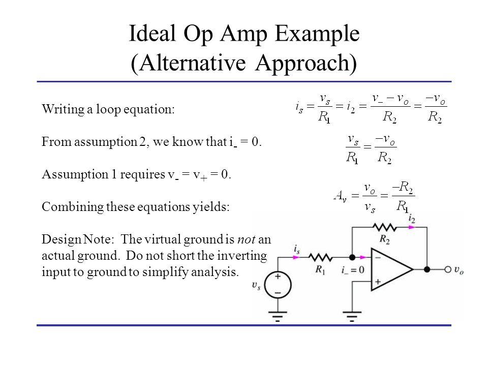 Ideal Op Amp Example (Alternative Approach)