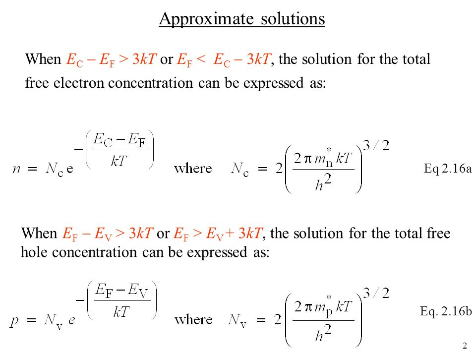 Approximate solutions