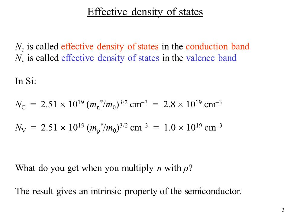 Effective density of states