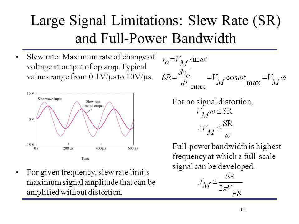 Large Signal Limitations: Slew Rate (SR) and Full-Power Bandwidth