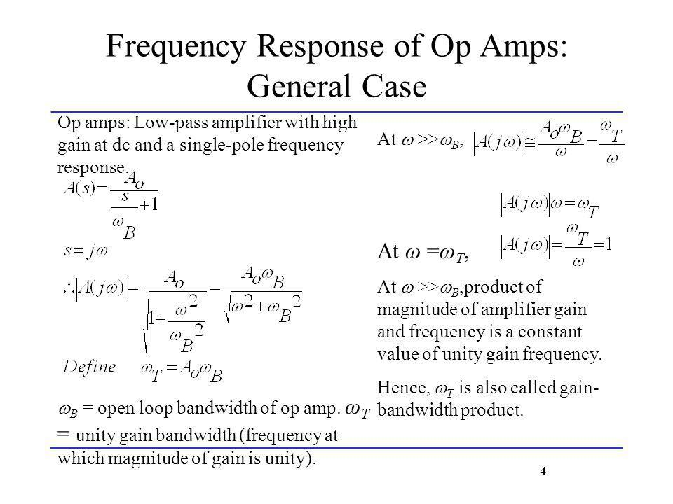 Frequency Response of Op Amps: General Case