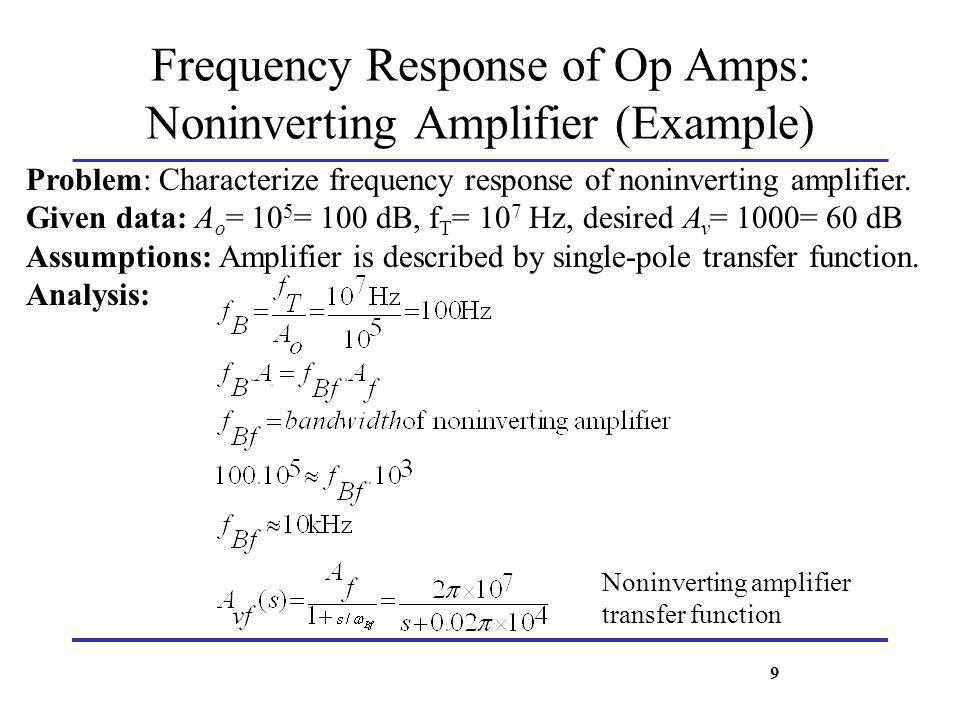 Frequency Response of Op Amps: Noninverting Amplifier (Example)