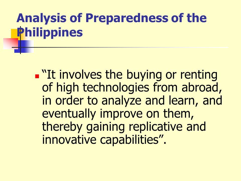 Analysis of Preparedness of the Philippines