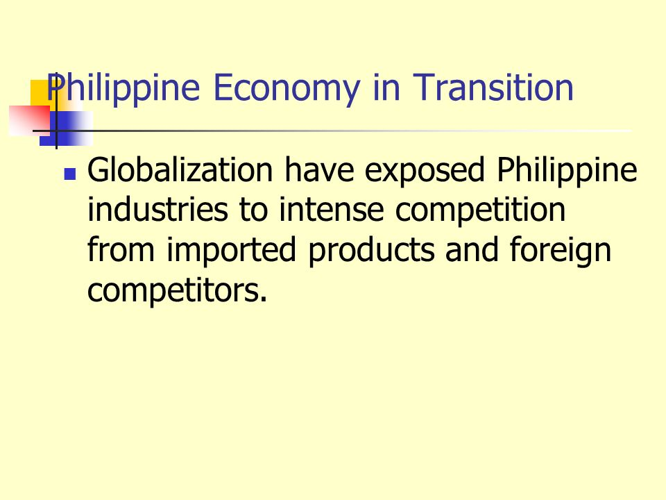 Philippine Economy in Transition