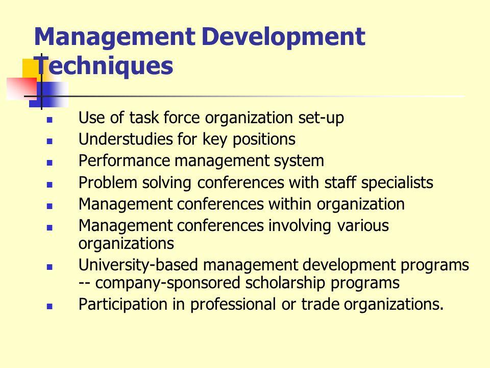 Management Development Techniques