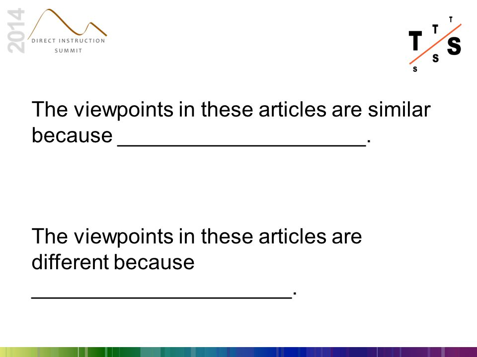 The viewpoints in these articles are similar because _____________________.