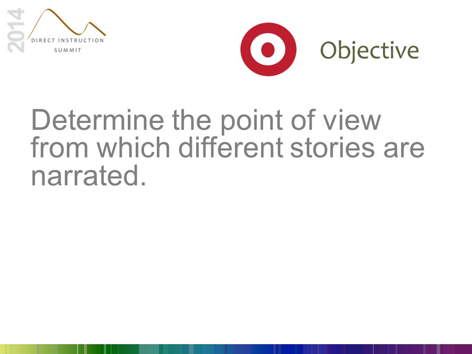 Determine the point of view from which different stories are narrated.