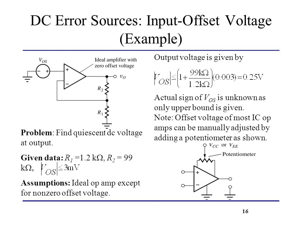 DC Error Sources: Input-Offset Voltage (Example)
