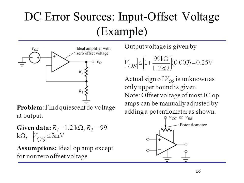 DC Error Sources: Input-Offset Voltage (Example)