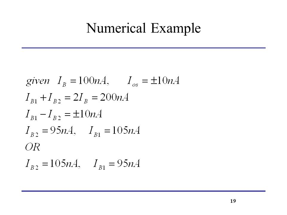 Numerical Example 19
