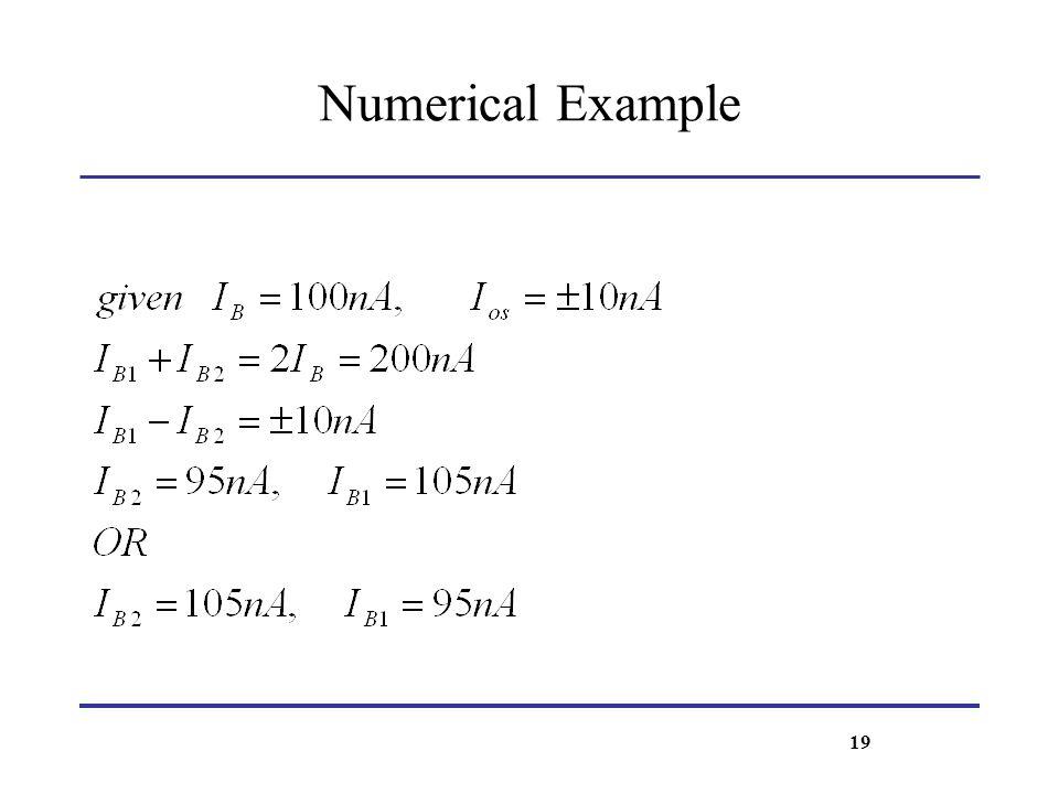 Numerical Example 19