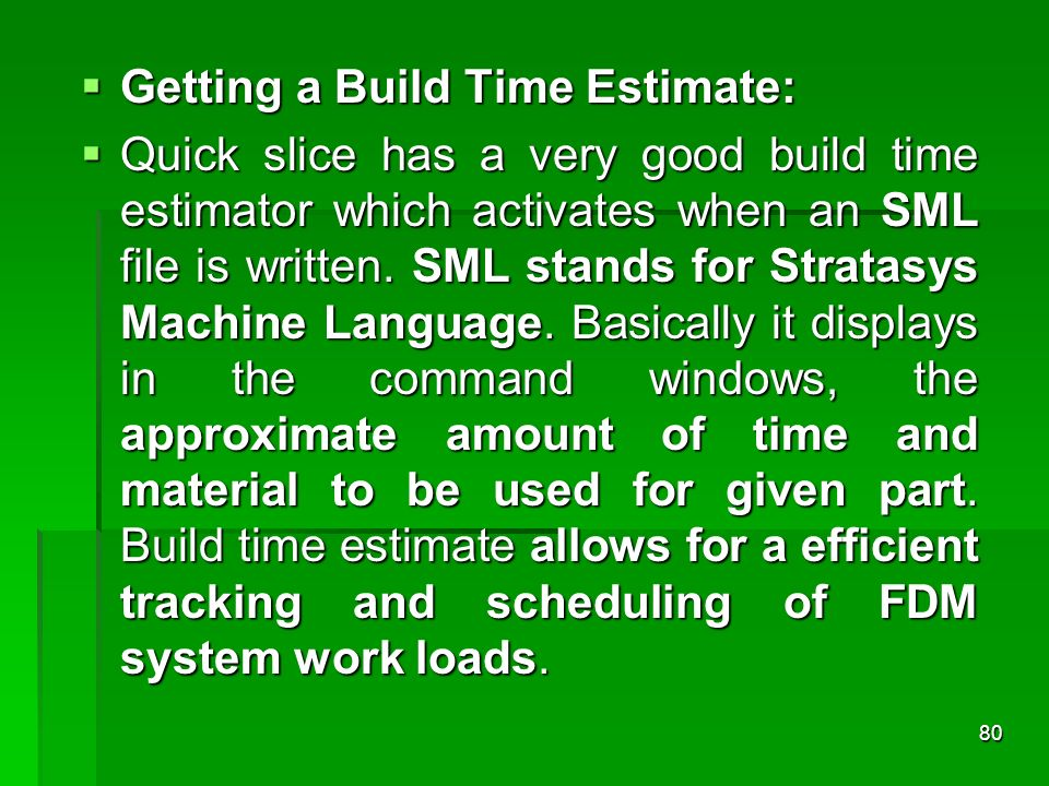 Getting a Build Time Estimate: