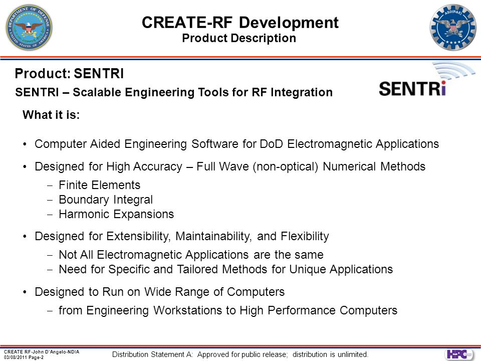 CREATE-RF Development