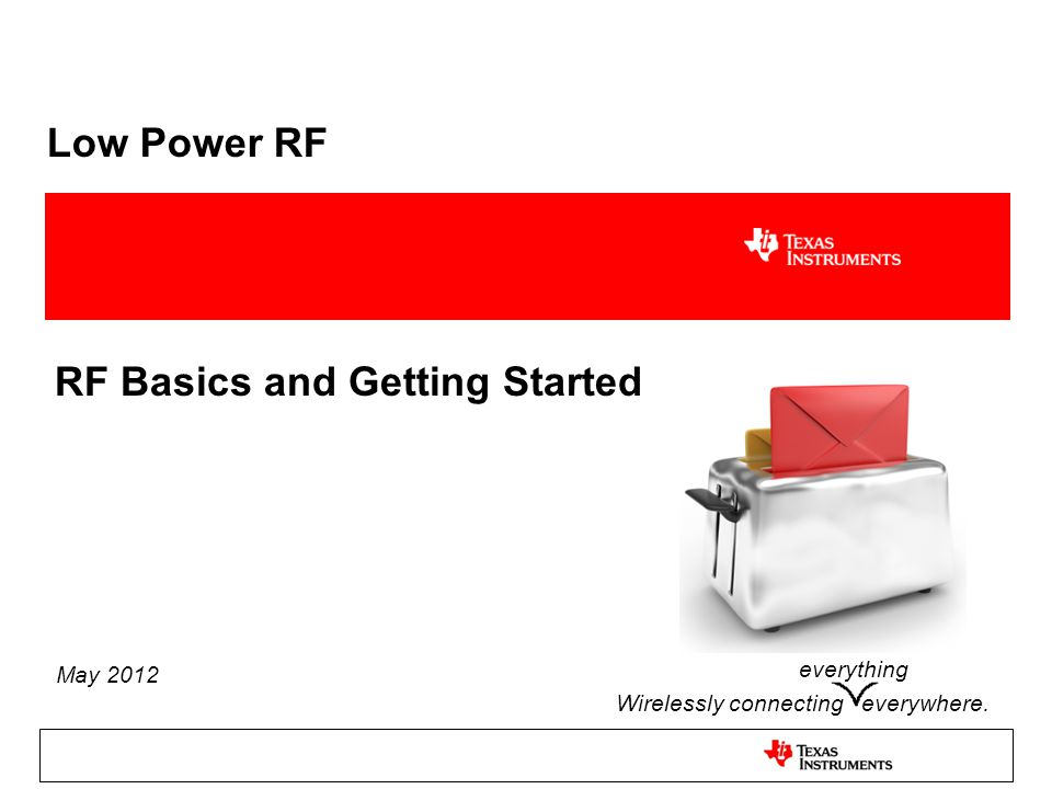 RF Basics and Getting Started