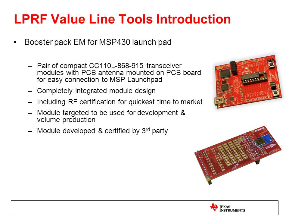 LPRF Value Line Tools Introduction