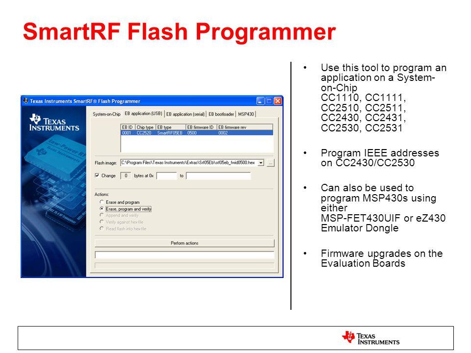 SmartRF Flash Programmer