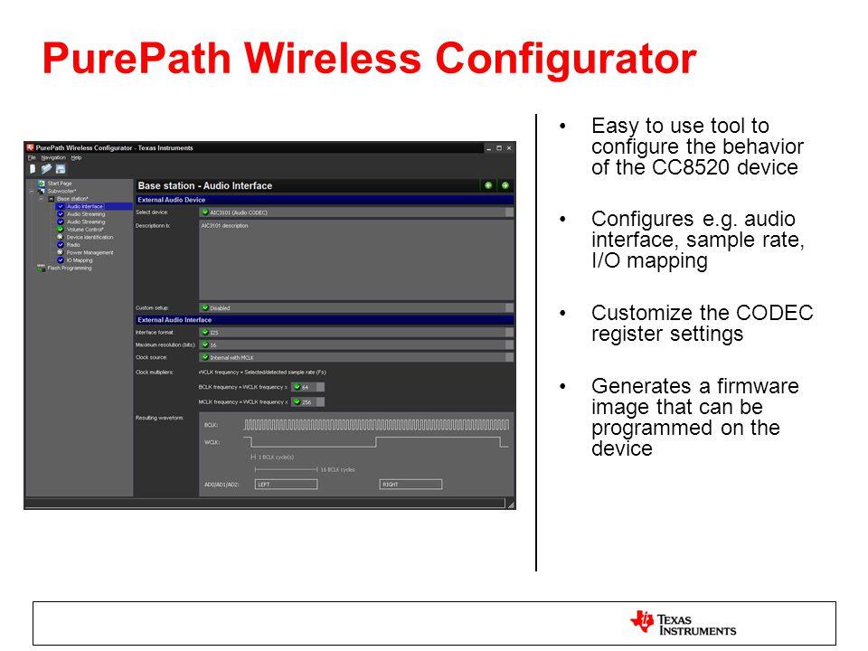 PurePath Wireless Configurator