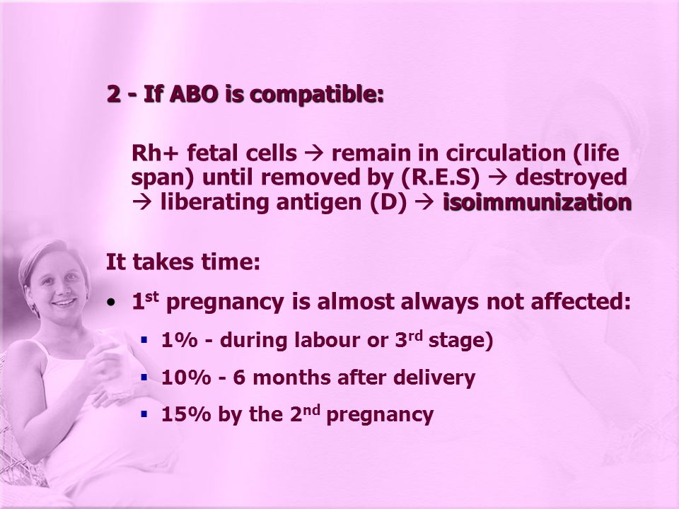 1st pregnancy is almost always not affected: