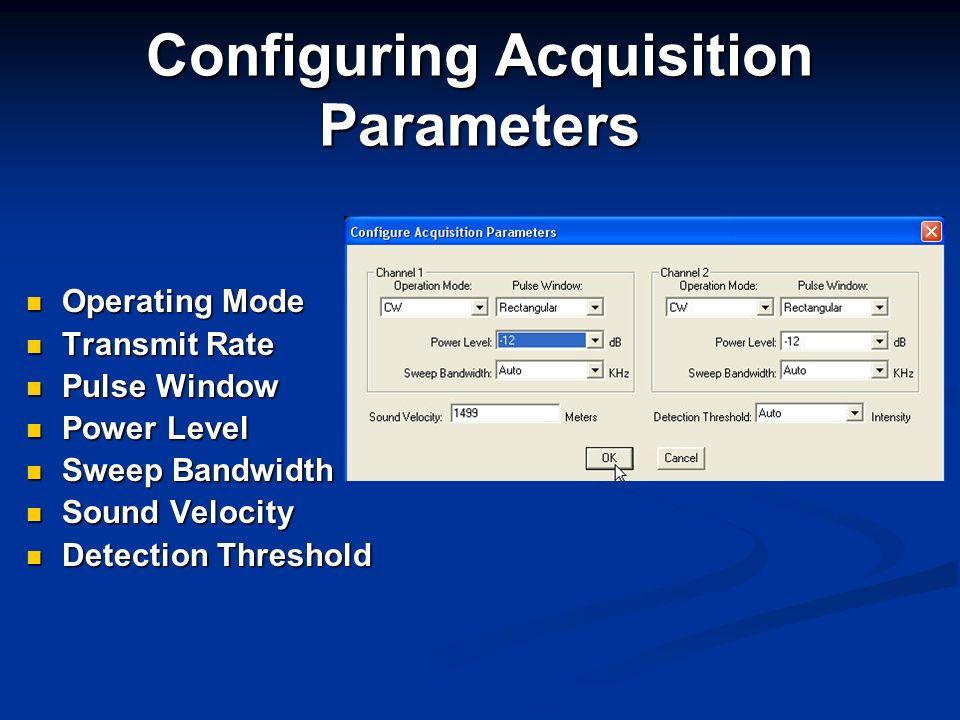 Configuring Acquisition Parameters