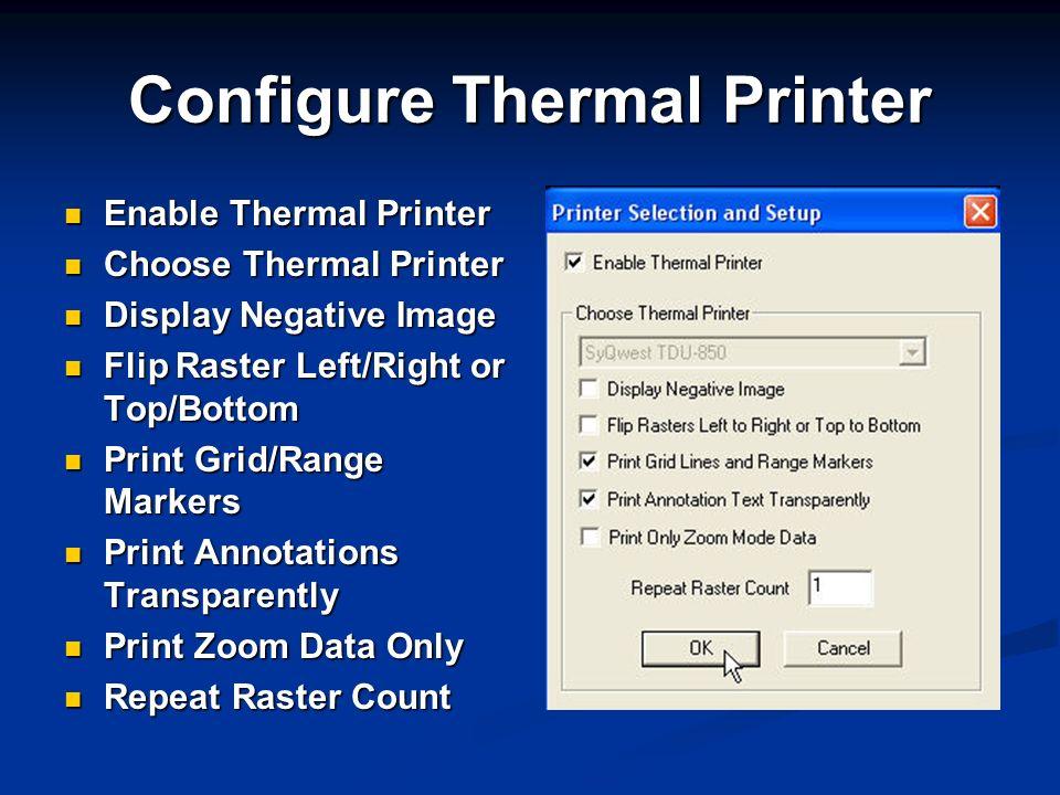 Configure Thermal Printer