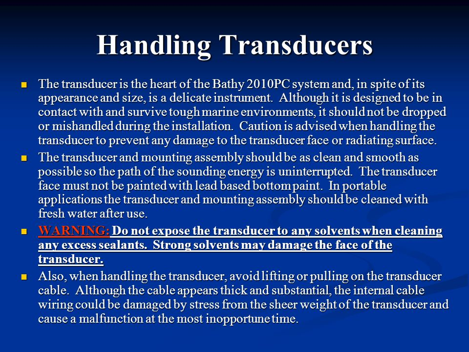 Handling Transducers