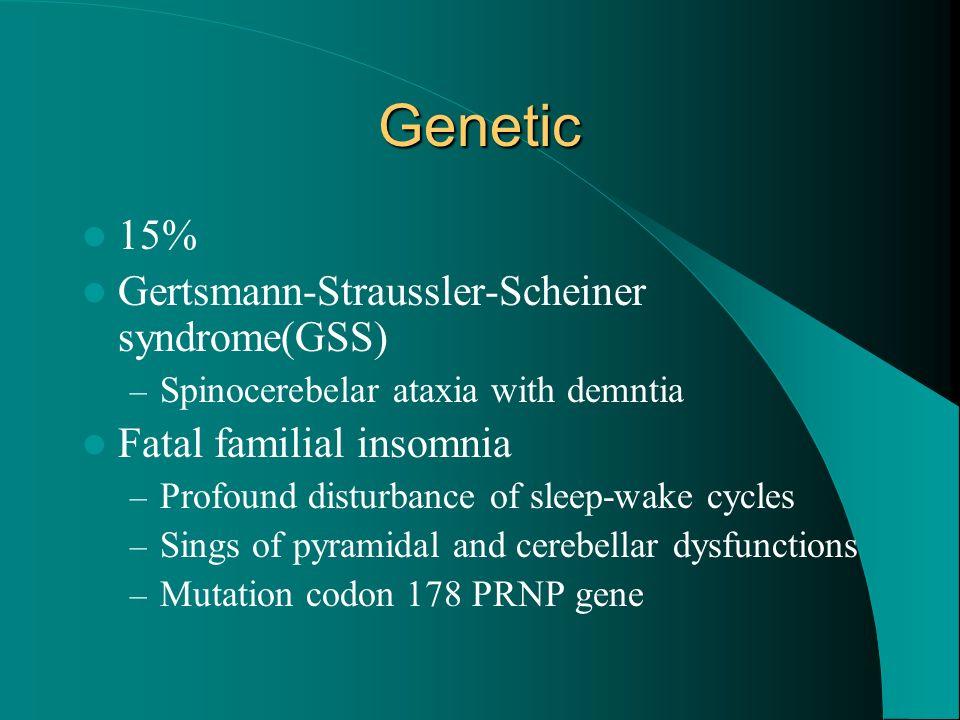 Genetic 15% Gertsmann-Straussler-Scheiner syndrome(GSS)