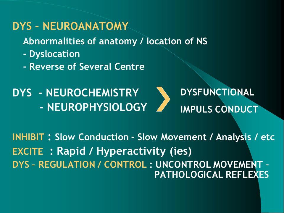Abnormalities of anatomy / location of NS