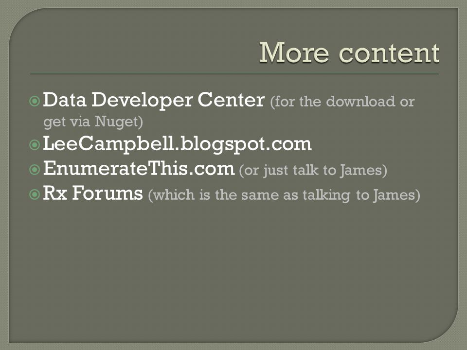 More content Data Developer Center (for the download or get via Nuget)