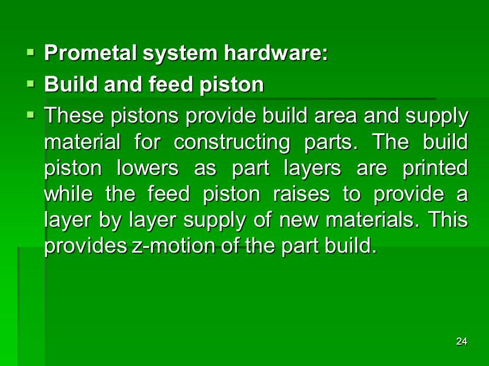 Prometal system hardware: