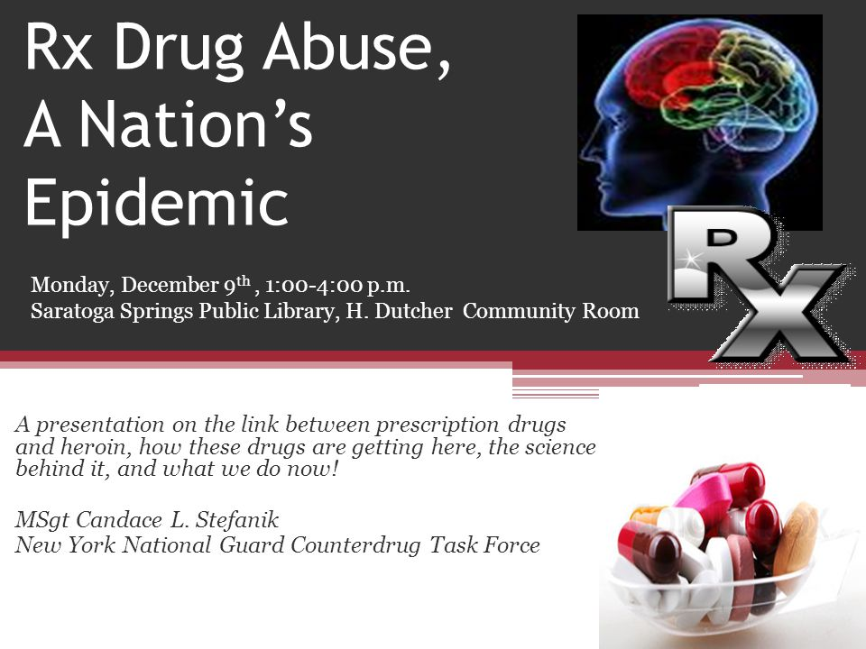 Rx Drug Abuse, A Nation's Epidemic
