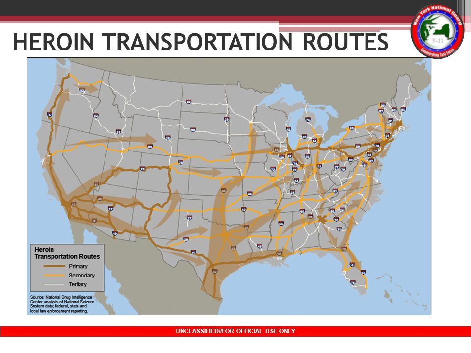 HEROIN TRANSPORTATION ROUTES