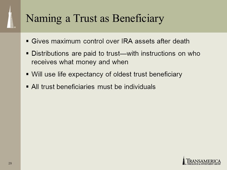 Naming a Trust as Beneficiary