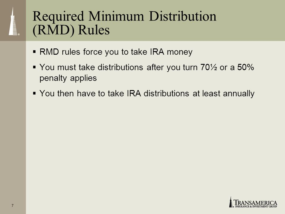Required Minimum Distribution (RMD) Rules