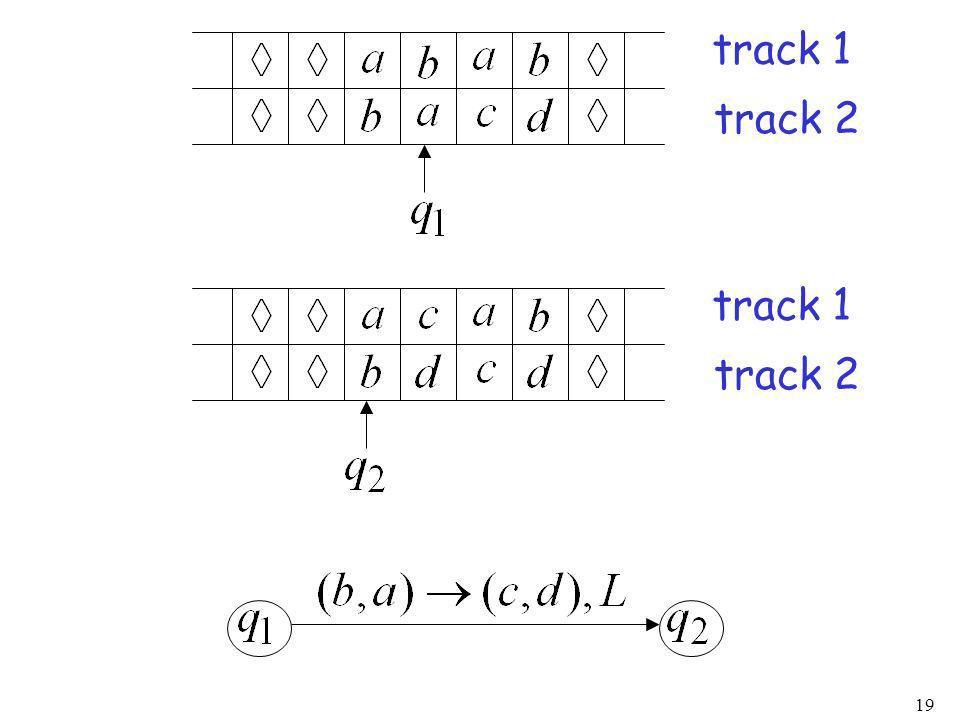 track 1 track 2 track 1 track 2