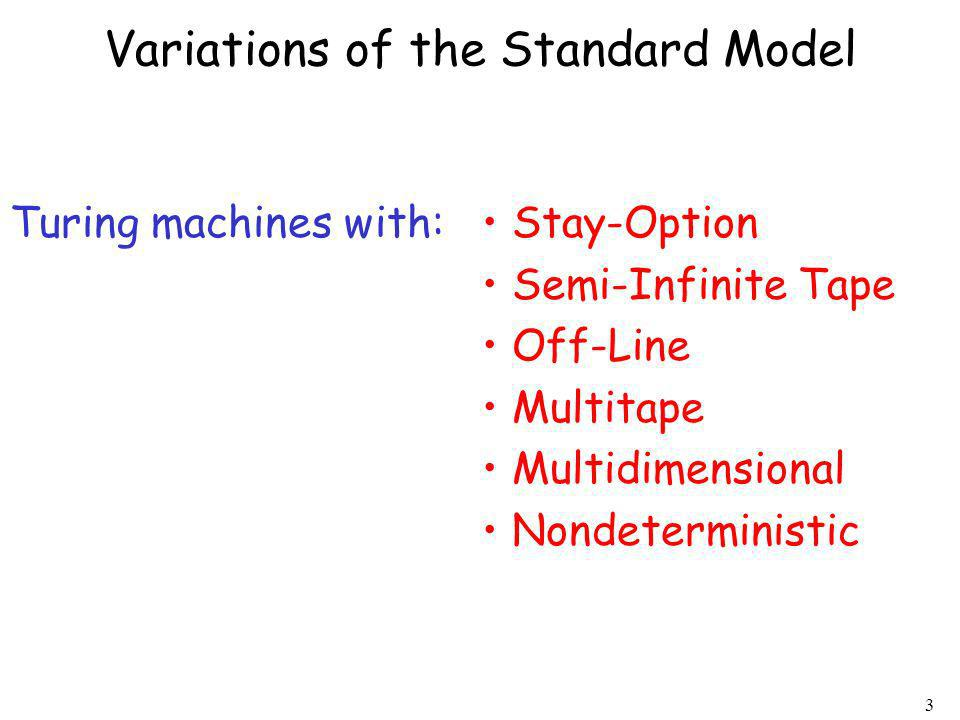 Variations of the Standard Model