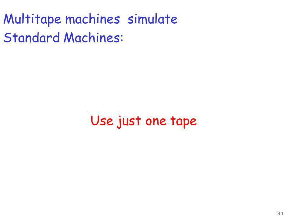 Multitape machines simulate