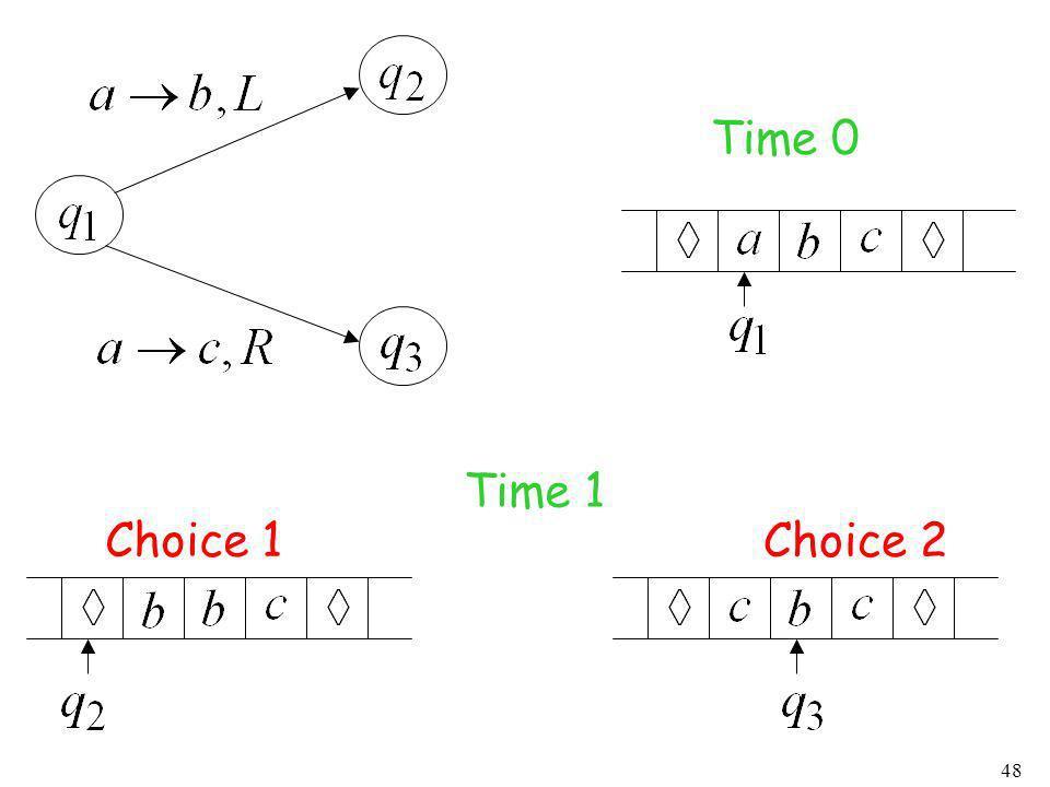 Time 0 Time 1 Choice 1 Choice 2