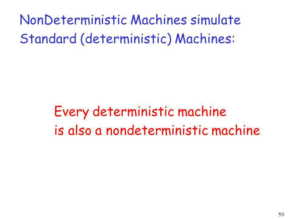NonDeterministic Machines simulate