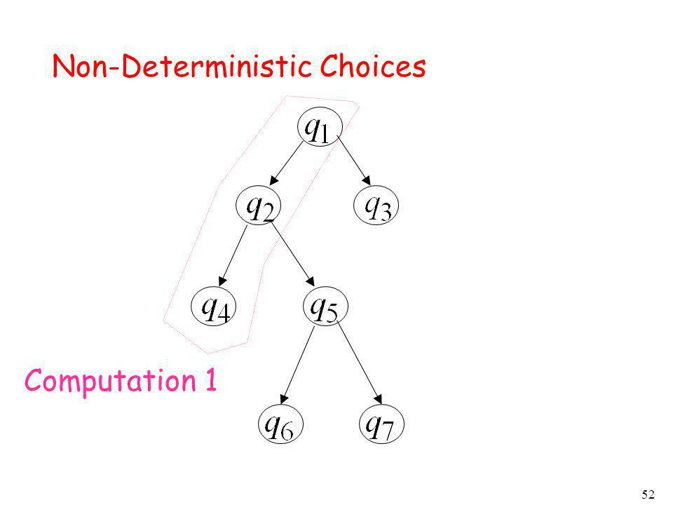Non-Deterministic Choices