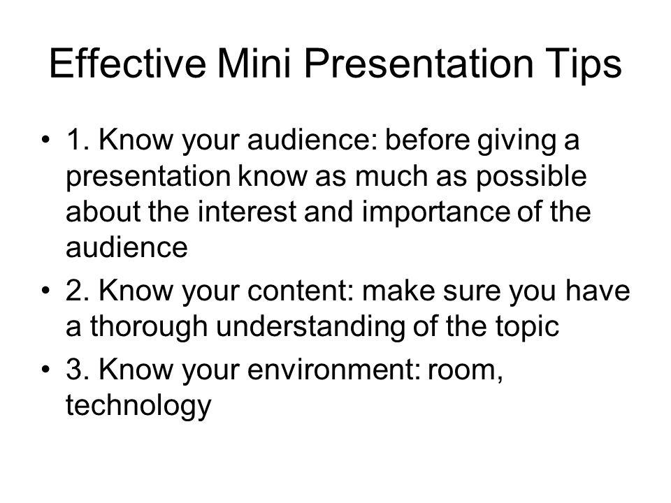 Effective Mini Presentation Tips